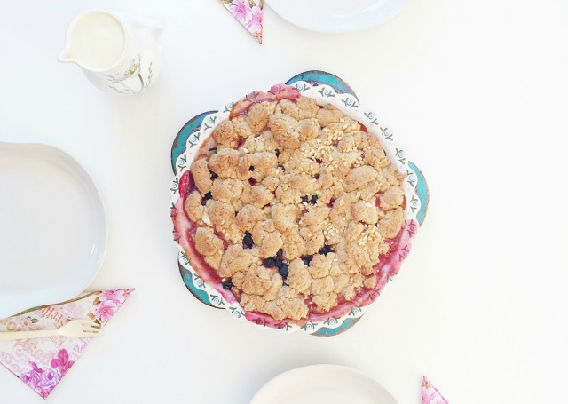 4more apple blueberry crumble