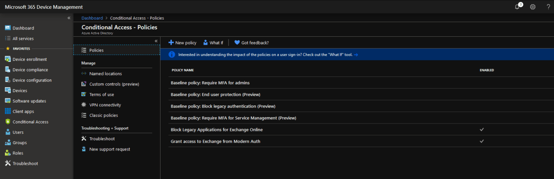 New functionality now in preview for Conditional Access