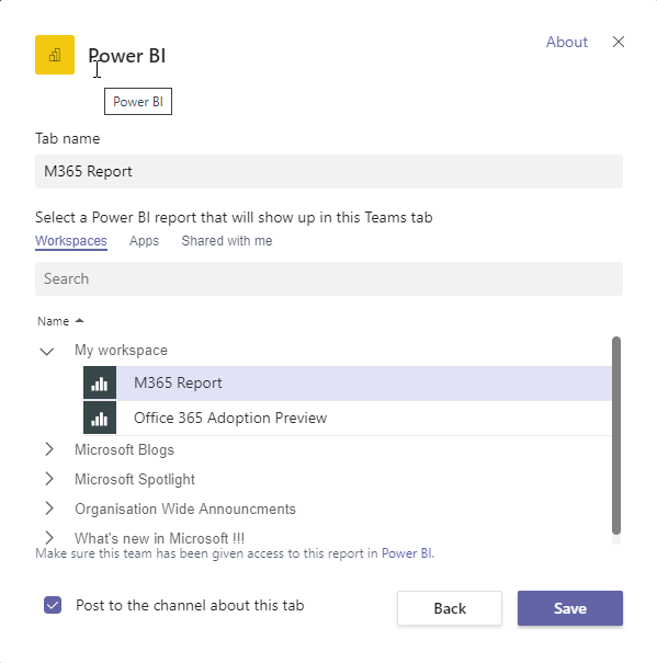 Bringing your Microsoft 365 Reporting into Microsoft Teams