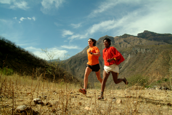 Scott Jurek racing against the Tarahumara