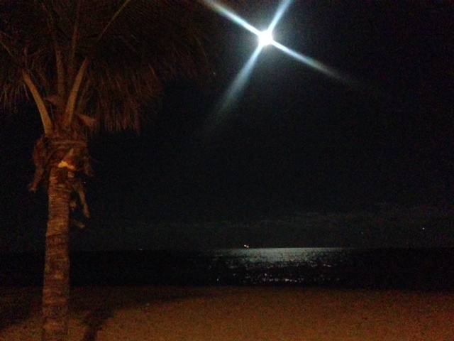 fort lauderdale beach at night