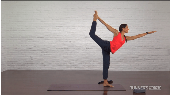 dancer's pose, yoga for runners