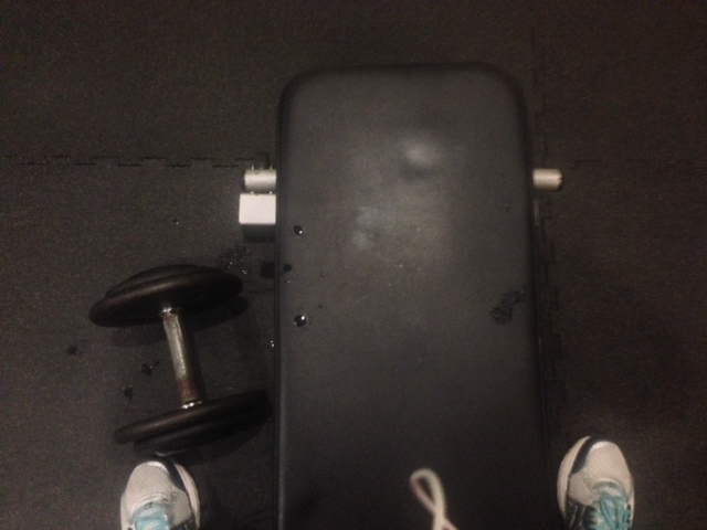 Bent over rows with 35lb dumbbells