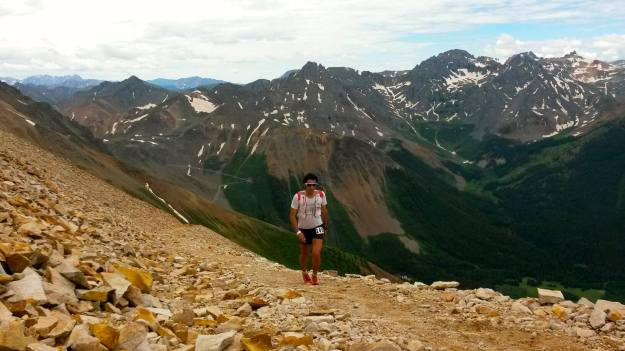 Kilian on the HR100 course. Photo: irunfar.com