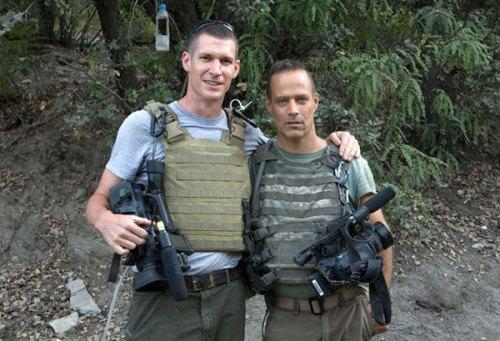Tim Hetherington y Sebastian Junger en Afganistán