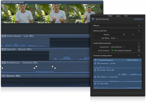 Edición de múltiples canales de audio en el storyline