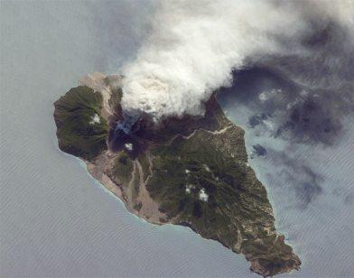 Vulcano  Soufrière Hills (credit: NASA.gov)
