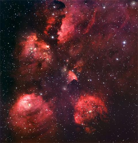 NGC 6334 - Nebulosa Zampa di Gatto (credit: ESO)