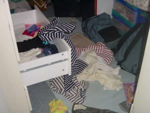 Je range la chambre de ma soeur