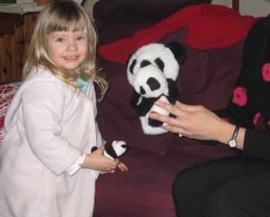 maman panda a trouvé bébé panda