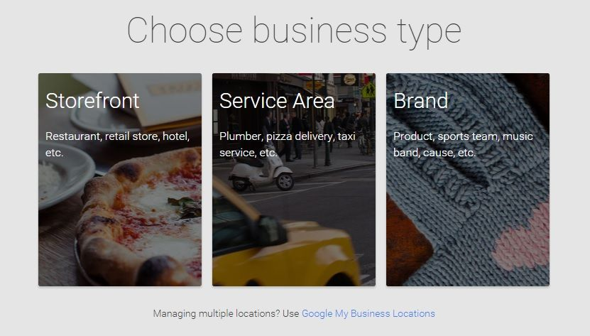 Choose a Business Type