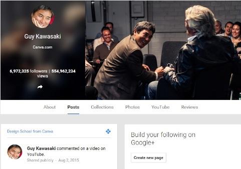 Google Influencer Guy Kawasaki