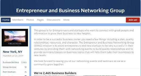Entrepreneur Meetup NYC