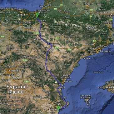 Viaje al País Vasco desde Alicante. Etapa 1: Alicante-Denia