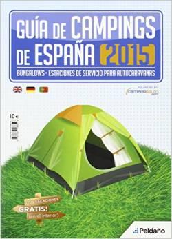 Portada de la Guia de Campings de España 2015 de Peldaño Ediciones
