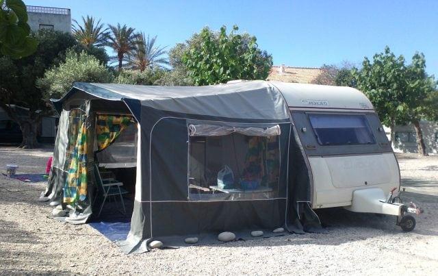 Primer Avancé que montamos en el Camping Paraiso