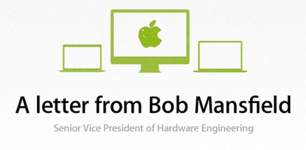 Apple regresa a la EPEAT, indica Bob Mansfield