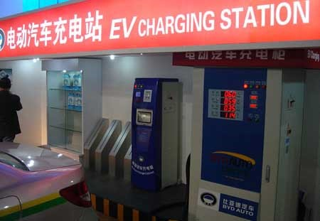 EV charging station in China