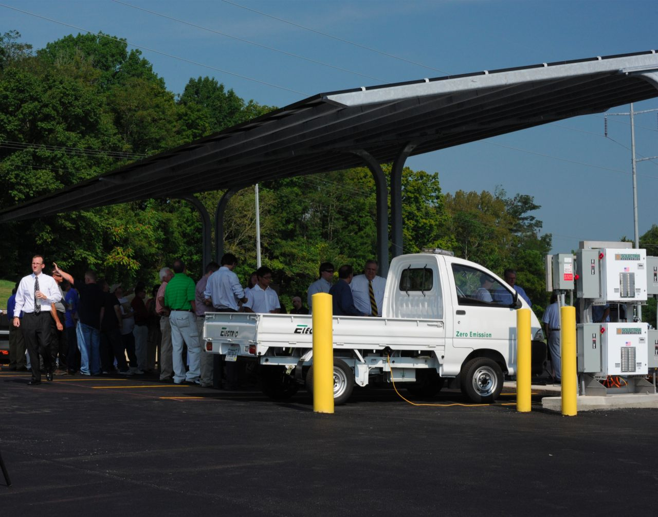 The Southeast's first solar parking structure was dedicated in Tennessee with the help of a ZAP electric truck.
