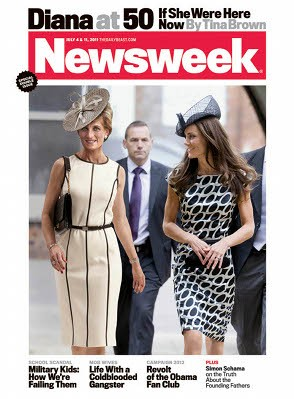 US magazine imagines Diana at 50 with Kate by her side