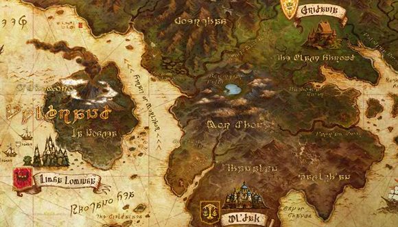 World Map And Points Of Interest In Latest Final Fantasy