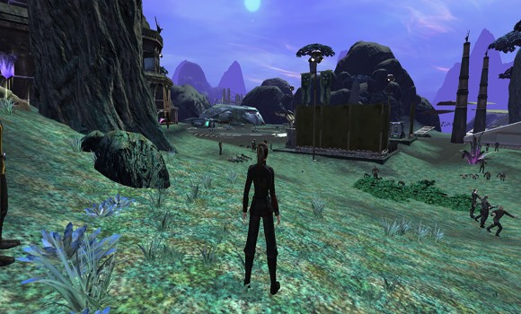 STO Romulan shuttle from distance