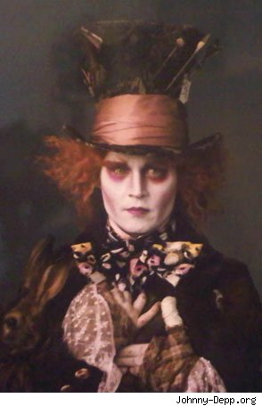 """The first photo of Johnny Depp as The Mad Hatter in 2010's """"Alice in"""