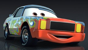 Darrell Cartrip from Pixar's CARS 2
