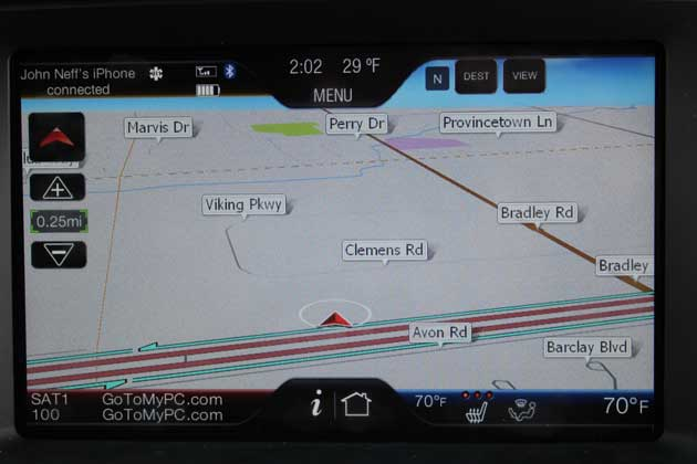 Sync Navigation Screen