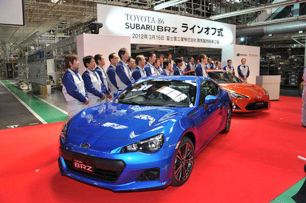 Subaru BRZ and Toyota GT 86 production underway