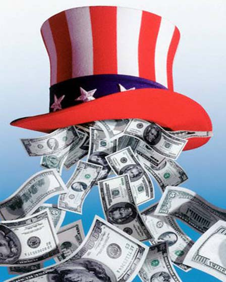 Uncle Sam is raining money on states for the greater good of all...