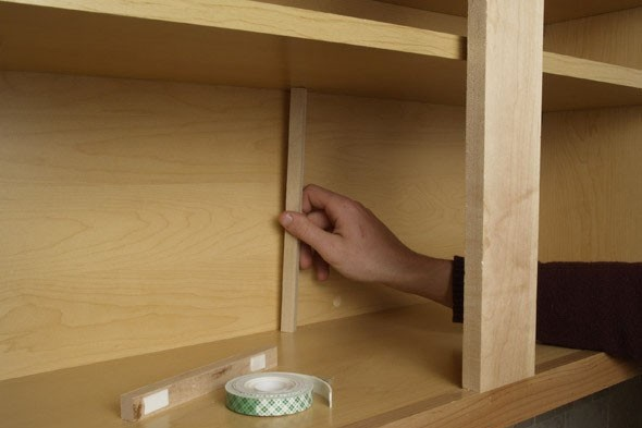 heavy loads. Make these simple shelf supports to solve the problem