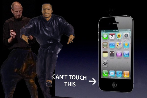 Can't touch the iPhone