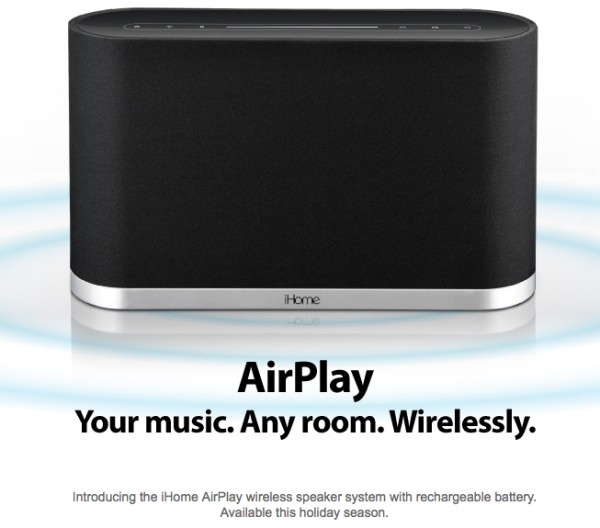 iHome speakers with AirPlay