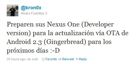 Open Handset Alliance member confirms Android 2.3 is Gingerbread, coming to Nexus One in 'next few days'