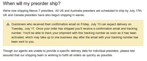 Nexus 7 preorders start shipping in UK and Canada