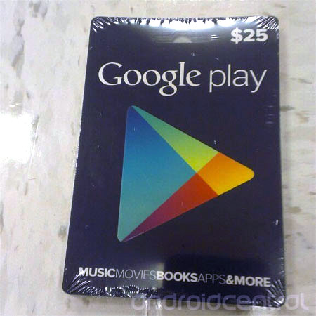 Google Play gift cards show up for real, come in $10 and $25 flavors
