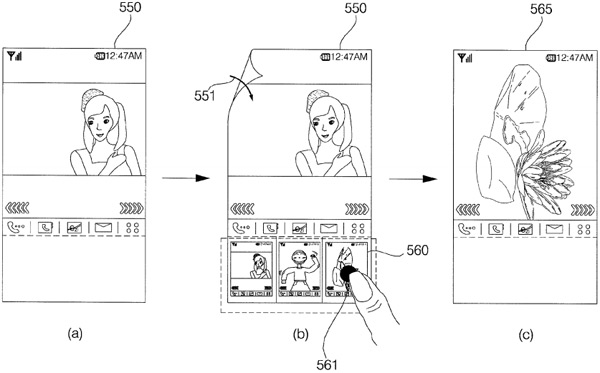 LG gets patent for mobile UI that reacts to flexible displays, encourages origami