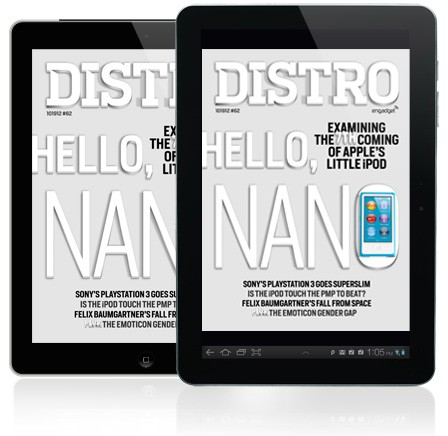 Distro Issue 62 arrives with Apple's iPod duo, a superslim PS3 and Wacom's latest pen display