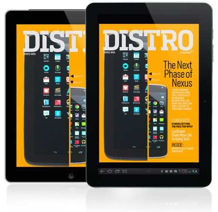 Distro Issue 65 arrives with the Jelly Bean-packing Nexus 4 and Nexus 10