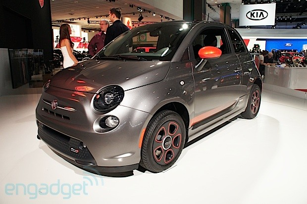 Fiat's 500e EV debuts at the LA Auto Show, we go eyeson