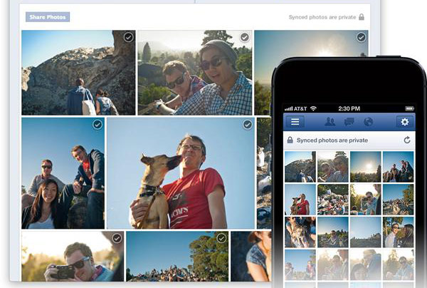 Facebook Photo Sync boots smartphone photos to a private album as you shoot