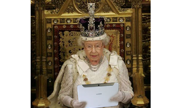 Samsung's Galaxy Note 10.1 is fit for a queen -- The Queen, in fact