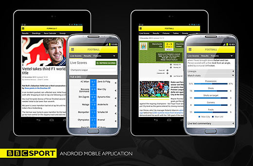 BBC Sport app launches on Android devices, includes support for 7inch tablets
