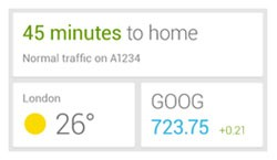 Google Now widget leaks, gets the 'now' up front and center