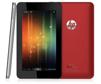 Front back and side view of HP Slate 7