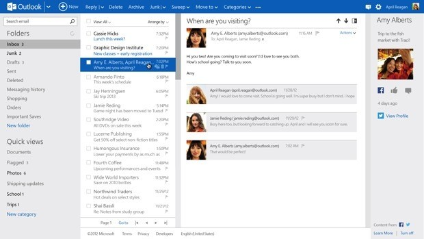 Outlook.com exits preview with 60 million active users, Hotmail UI to be retired this summer