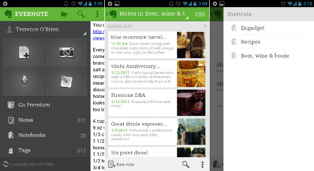 Evernote 50 comes to Android with revamped camera, shortcuts and tweaked UI