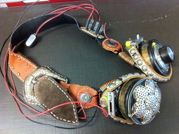 DIY theremin goggles marries the art of noise with steampunk style
