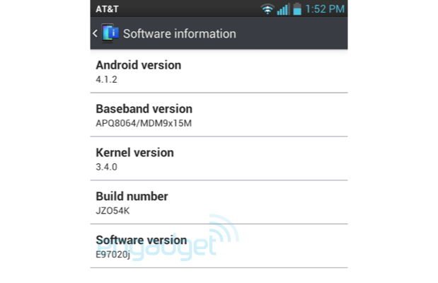 DNP AT&T's LG Optimus G Jelly Bean update